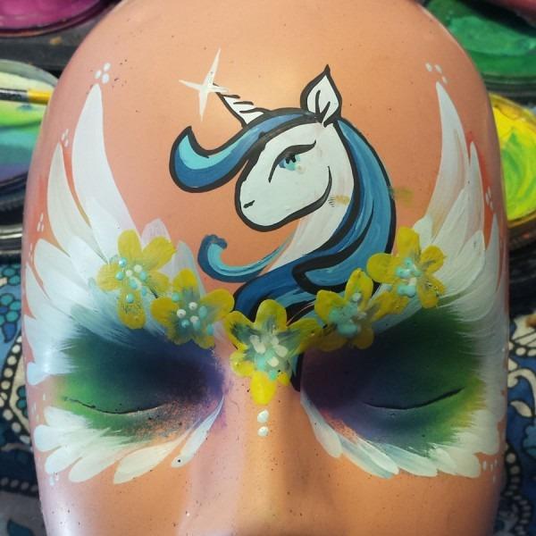 Rainbow Unicorn Mask – Facepaint Com