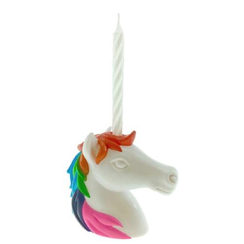 Reusable Unicorn Birthday Candle Holder & Candle