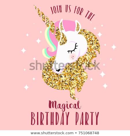 Royalty Free Stock Illustration Of Unicorn Birthday Party Stock
