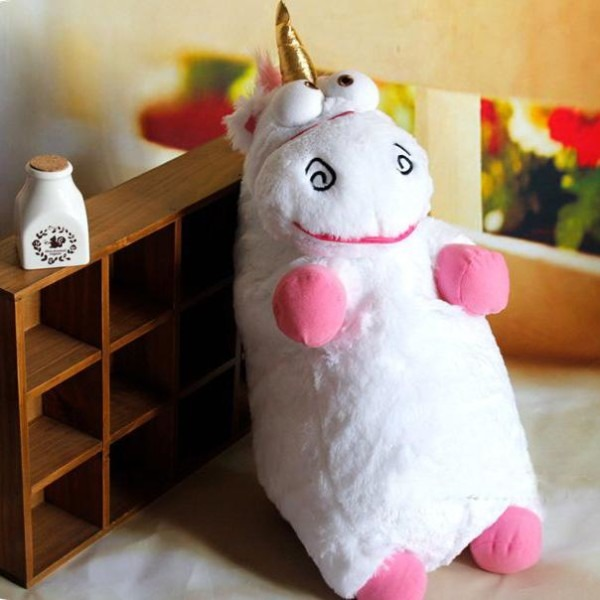 S5q Large Size Cute Cartoon Unicorn Plush Toy Fluffy Stuffed