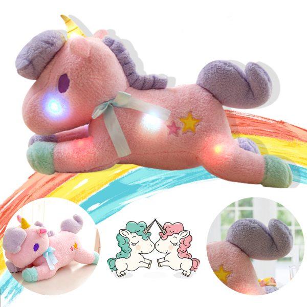 Smart Unicorn Light Up Soft Toy, Bluetooth Speaker Glitter Unicorn