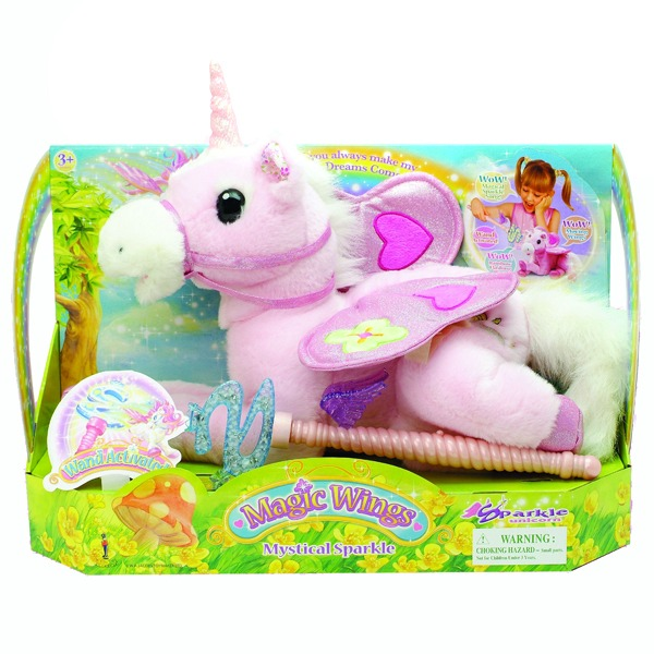 Sparkle Unicorn Magic Wings Unicorn Magic Cu Bagheta    Jucarii