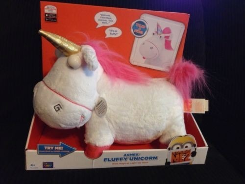 Talking Agnes's Fluffy Unicorn Plush Despicable Me 2 Thinkway Toys