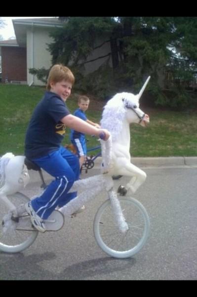 The Boy On A Unicorn Bike