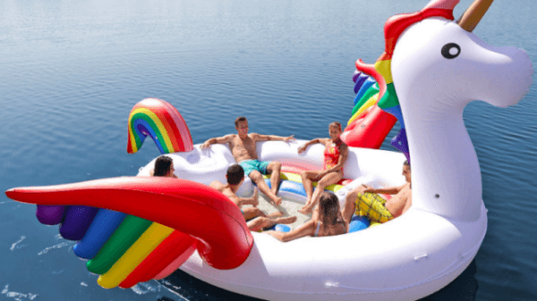 The Giant Unicorn Pool Float That Fits Six People Is Top Of Our