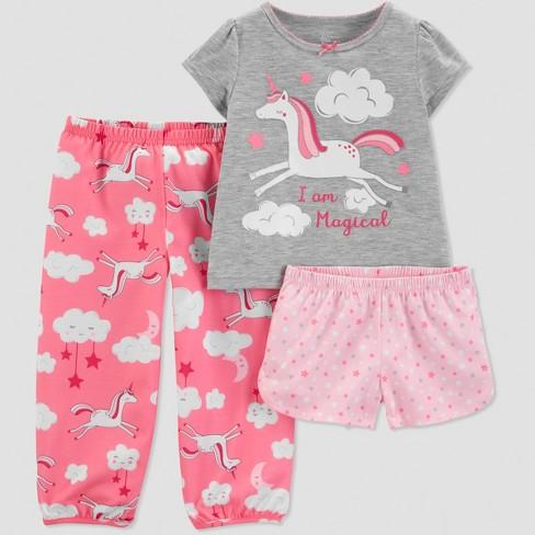 Toddler Girls' 3pc Unicorn Pajama Set
