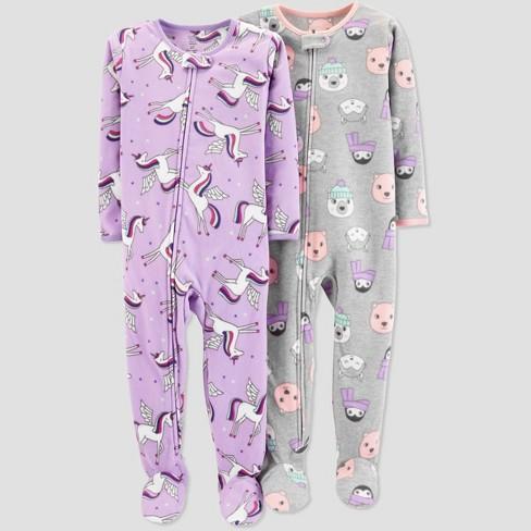 Toddler Girls' Fleece Unicorn Pajama Set