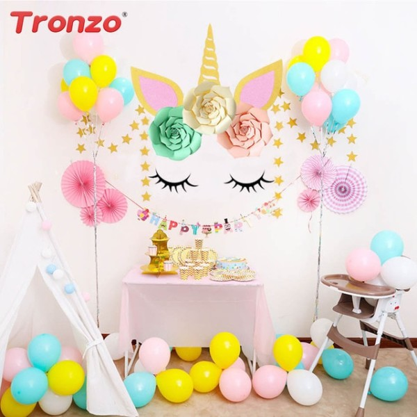 Tronzo Diy Unicorn Horn Eyelashes Unicorn Party Colorful Flower