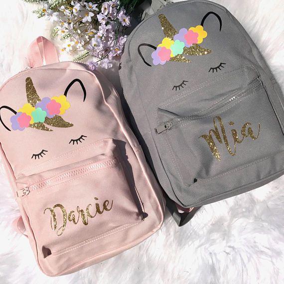 Unicorn Bag Personalised School Bag Personalized Backpack