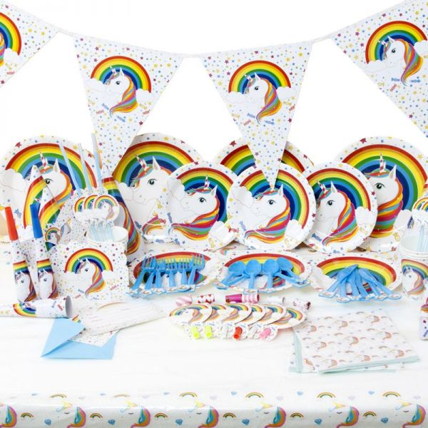 Unicorn Birthday Party Plates