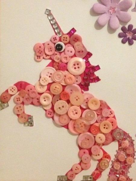 Unicorn Button Art By Kimberly Mcavena @ Unicorn Crossing