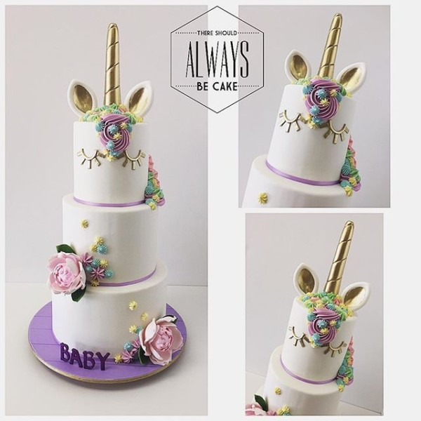 Unicorn Cake 3 Tiers