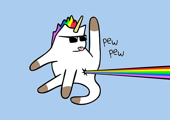 Unicorn Cat Rainbow Butt Laser  Posters By Jezkemp