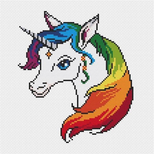 Unicorn Cross Stitch Pattern Unicorn