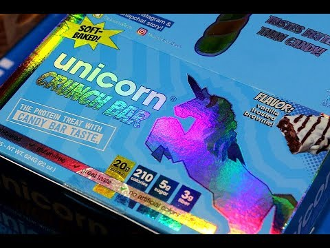 Unicorn Crunch Bar  Vanilla Frosted Brownie Review