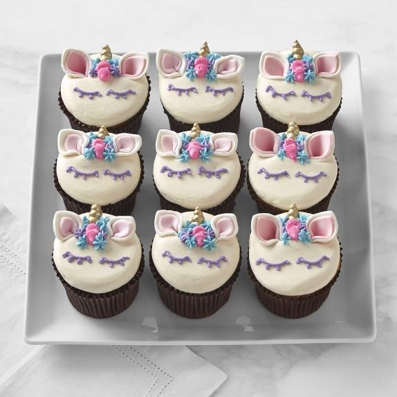 Unicorn Cupcakes, Set Of 9