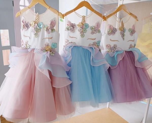 Unicorn Dress—   Honeybeekids  Honeybee_kids  Instakids