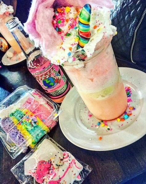 Unicorn Float  (cotton Candy Soda, Vanilla Ice Cream, Sprinkles