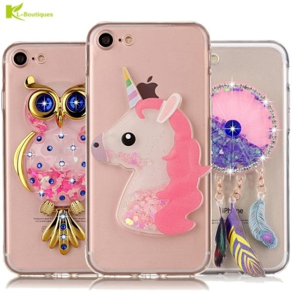 Unicorn Glitter Liquid Case For Iphone 7 Cover For Iphone 7 Plus