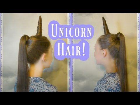 Unicorn Hair Tutorial! (horn, Mane & Tail) Crazy Hair Day! My