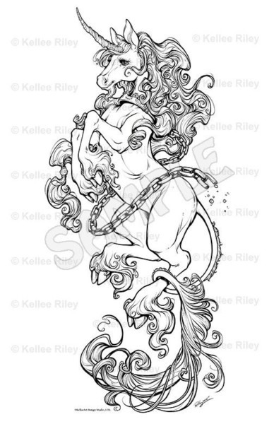 Unicorn Head Coloring Pages (10 Photos)