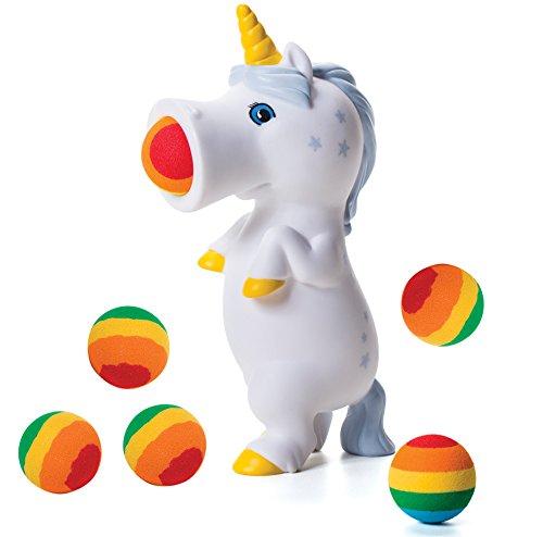 Unicorn Hog Wild Popper Pressing Belly Shoots Foam Balls Rainbow