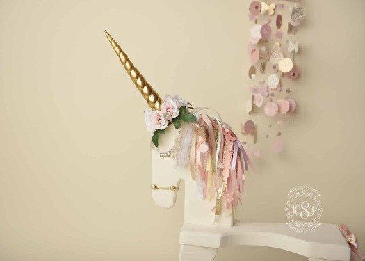 Unicorn Horn Accessory Rocking Horse By Babybirdieboutique On Etsy