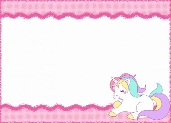 Unicorn Invitation Layout