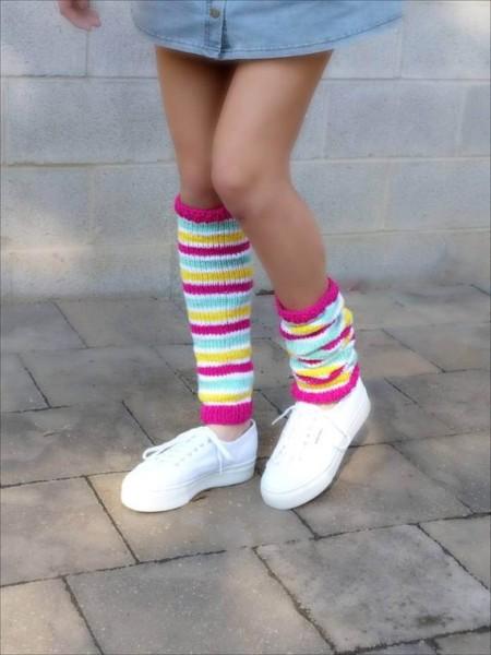 Unicorn Leg Warmers Womens Teenage Girls Knit Leg Warmers