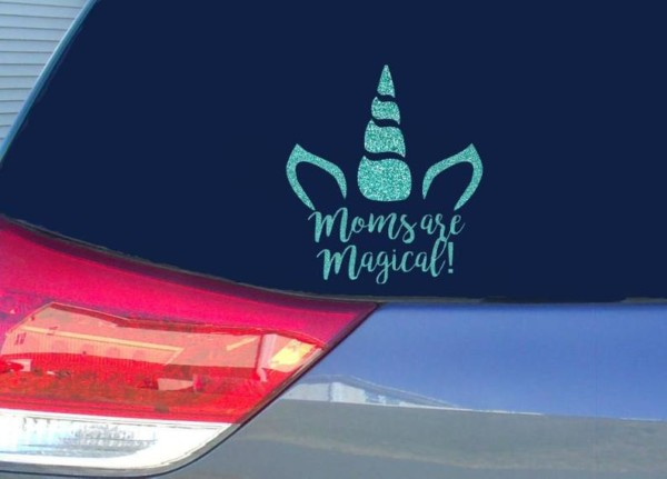 Unicorn Mom Decal Unicorn Car Sticker Mom Decal Sticker