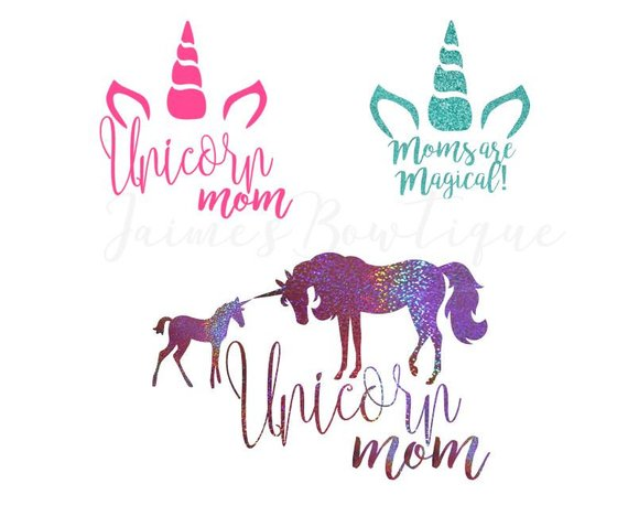 Unicorn Mom Decal, Unicorn Car Sticker, Mom Decal Sticker, Gift