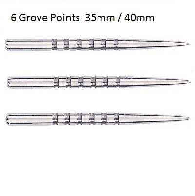 Unicorn Needle 6 Groove Silver Replacement Dart Points