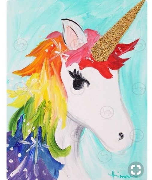 Unicorn Paint Night At The Art Of Music Academy, Brantford