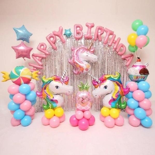 Unicorn Party Balloons Air Birthday Wedding Children Party Foil