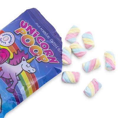 Unicorn Poop Marshmallow Twists Candy Bag 3oz