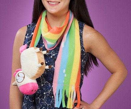 Unicorn Poop Rainbow Scarf
