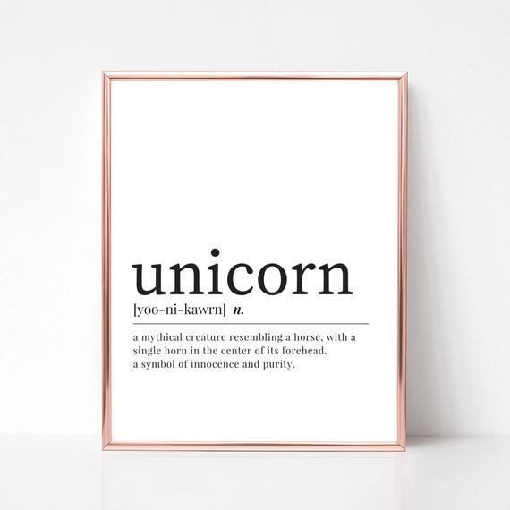 Unicorn Print Digital Download Unicorn Definition