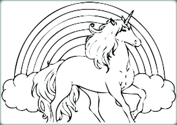 Unicorn Rainbow Coloring Pages – Pixsipo