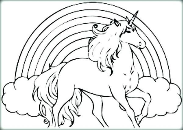 Unicorn Rainbow Coloring Pages – Pixsipo