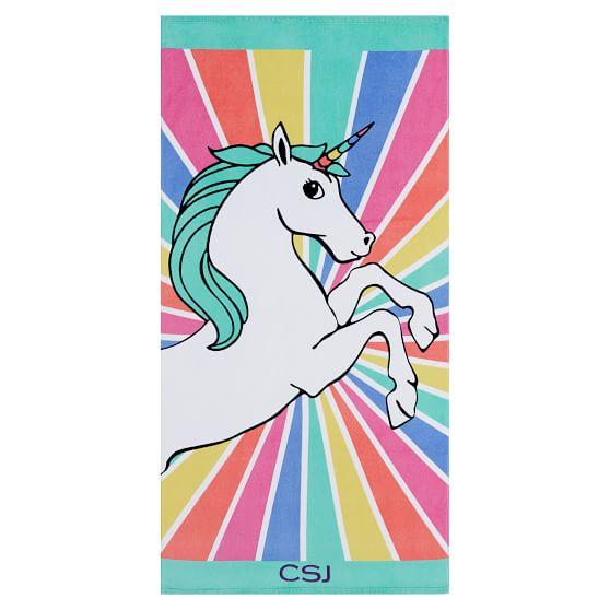 Unicorn Rays Beach Towel