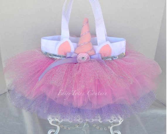 Unicorn Sparkle Tutu Tote Bag (medium Size)