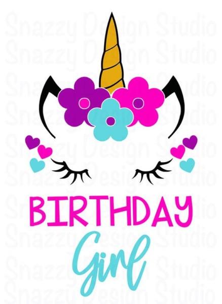 Unicorn Svg Birthday Girl Unicorn Svg Unicorn Birthday