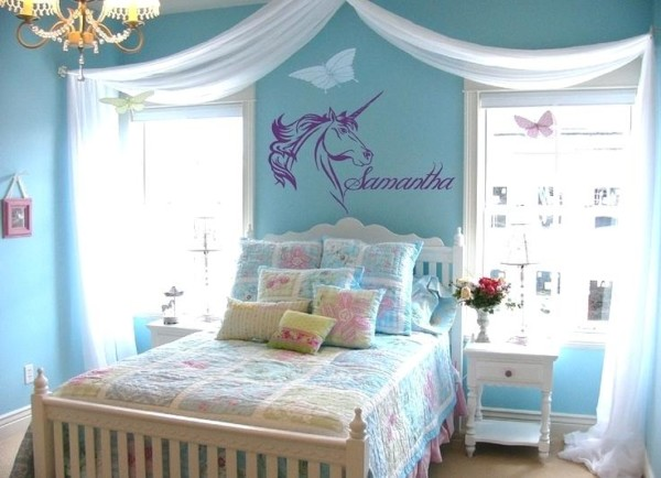 Unicorn Themed Bedroom Magnificent Images Of Pink And Purple Girl