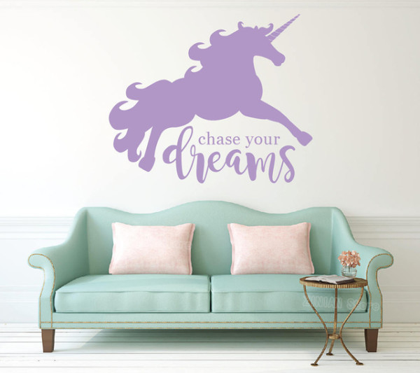 Unicorn Wall Decal For Baby Room Large Dream Big Vinyl Wall