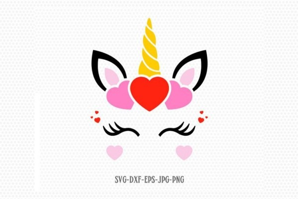 Valentines Day Unicorn Svg, Unicorn Svg