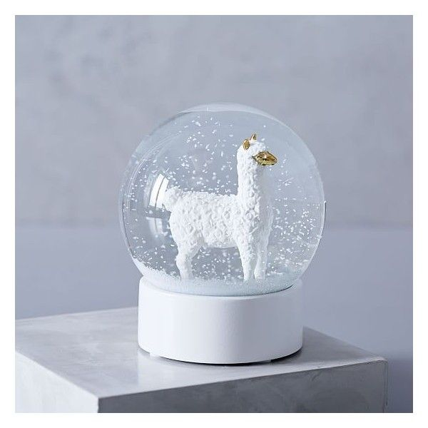 West Elm Llama Snow Globe ($14) ❤ Liked On Polyvore Featuring