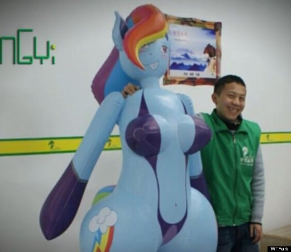 """Why God, Why  The Rainbow Dash """"inflatable Sex Doll"""" Has Arrived"""