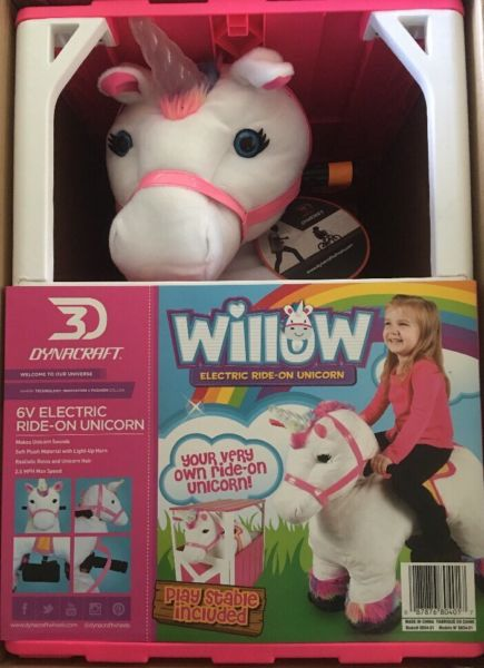 Willow Electric Ride On Unicorn Play Stable Includedl For Sale In