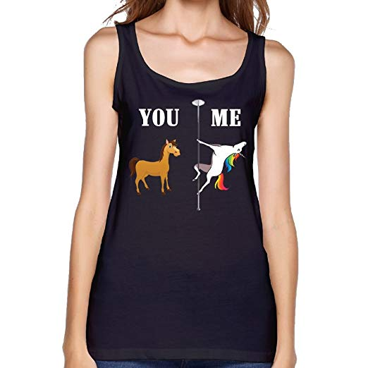 You Me Unicorn Pole Dance Women Leisure Tank Top Yoga Gym Shirts