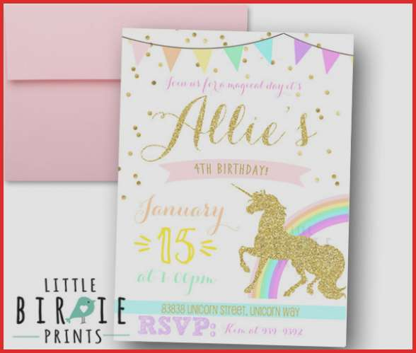 12+ Unicorn Birthday Party Invitations